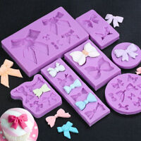Butterfly Bow Silicone Fondant Mold Cake Decor Chocolate Sugarcraft Baking Mould