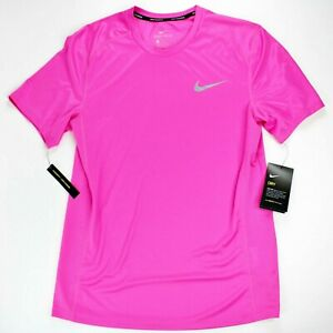 Nike Dri-Fit Running NWT Men's Athletic T-Shirt Sz Small Pink Vented Tee w/ Tags