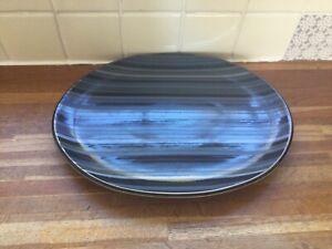 Denby - Jet Stripes Oval Serving Platter.