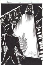 Geoff Johns Avengers #60 Kieron Dwyer Original Marvel Comics Art Splash Page