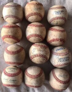 One Dozen used Baseballs in very good condition!  12 Balls  Pre-Owned. 3