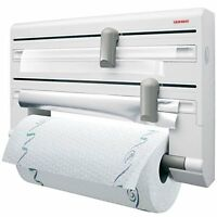 Leifheit Parat Wall-Mounted Foil, Cling Film and Kitchen Roll Holder Dispenser -