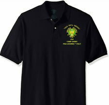 CAMP DARBY *PISA-LIVORNO * ITALY* US ARMY EMBROIDERED LIGHT WEIGHT POLO SHIRT