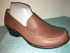NWOB SoftSpots brown Leather casual slip on Sizw 10 WW