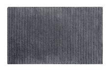 100% baumwolle hochwertige badteppiche, silbergrau, rutschfest