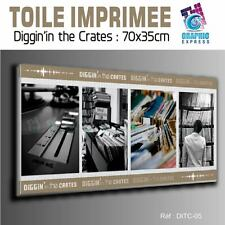 TOILE IMPRIMEE 70x35 cm - IMPRESSION SUR TOILE - DITC-05 - DEEJAY RECORDS DIGGIN