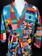 Medium Gottex Robe & Belt World Flags Beach Bath Cotton NATO UN International