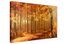 AUTUMN FOREST PICTURES CANVAS ART PRINTS OIL PAINTING REPRINT ARTWORK DECOR