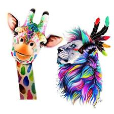 2Pcs 5D Diamond Painting Embroidery Animals Lion Deer Picture Crafts Decor
