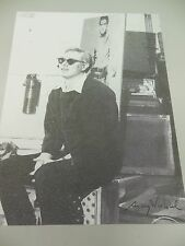 """ANDY WARHOL HAND SIGNED SPECIAL PRINT IN BLACK PEN """"GALLERY""""  1969 WITH COA"""