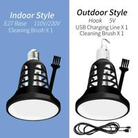2 in 1 8W E27/USB Mosquito Killer LED Lamp Anti Insect Home Light Bulb Camping