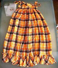 "Mid Century Woman'S ""Maxi"" Skirt-""Mr Winn California Teddi"" Orange & Brown Plus"