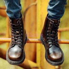 Womens Mens Vintage Retro British Combat Military Boots Lace-up Punk Shoes HOT