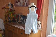 salopette cyrillus haut  doublee 18 mois bleu pale  haut double adorable