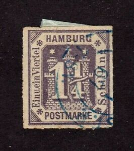 Hamburg stamp #24, used, German State,  SCV $35.00