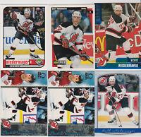 (7) card Scott Niedermayer mixed lot, New Jersey Devils HOF