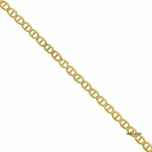 "14K Solid Yellow Gold Chain Anchor Mariner Gucci Link Chain Necklace 24"" New"