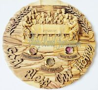 Round Wall Hanging Last Supper olive wood holy land Jerusalem Christmas gifts