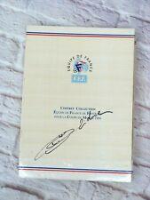 Coffret COLLECTOR 25 stylos FRANCE 98 pré-signés + signature authentique ZIDANE