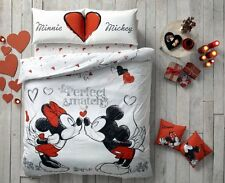 Licensed Disney Queen Minnie & Mickey Perfect Match Duvet Cover Set %100 Cotton
