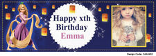 24hrs Delivery Tangled Birthday Banners - Add Photo & Name & Age - 10 Designs!