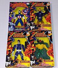 """AVENGERS VisionFuryIron ManCaptain America Marvel Universe 10"""" Figure Toy Biz"""