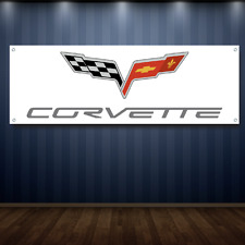 Corvette 1' X 3' Garage Banner, 13oz Vinyl - FREE SHIPPING Chevy Vette New