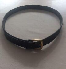 Una vez usado para hombre Negro Gamuza Cinturón Cintura 46