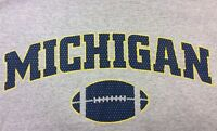 Champs Michigan Wolverines Football Tee T Shirt Gray Grey Men's XL Vintage Rare