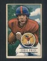 1951 Bowman #127 Eddie Price VGEX NY Giants 100617