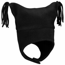 Columbia Pigtail Hat Infant One Size Fits 3 6 12 18 Months Black Fleece NEW