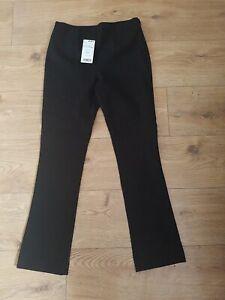 MANGO  Suit Collection ladies Pantalon Bel Trousers zipup Black Uk Size 6 Bnwt