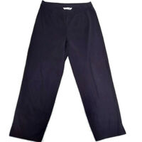 Exclusively Misook Women's Black Pull-On High Waist Pants Straight Leg Small
