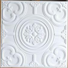 Ceiling tiles Faux tin restaurant art decor wall panel 10tile/lot PL50