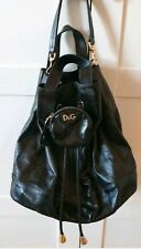 Dolce Gabbana Backpack Black Leather Rare Used
