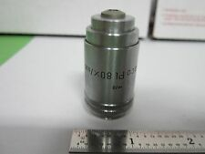 MICROSCOPE PART OBJECTIVE LEITZ GERMANY PHACO 80X INFINITY OPTICS BIN#A9-C-9