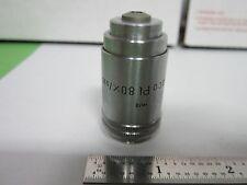 MICROSCOPE PART OBJECTIVE LEITZ GERMANY PHACO 80X INFINITY OPTICS BIN#A9-C-9