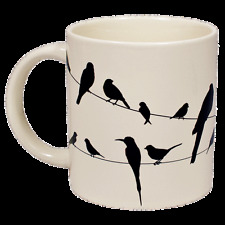 Color Changing Bird On a Wire Mug Ceramic Coffee NEW  Novelty
