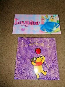 Door plaque and tile with name Jasmine Winnie the pooh and Disney Princesses New