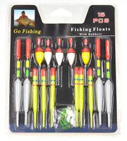Lots 15pcs Assorted Sizes Fishing Lure Floats Bobbers Slip Drift Tube Indicator