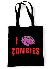 I LOVE ZOMBIES SHOULDER BAG -  Night Of The Living Dead Goth  Zombie Halloween