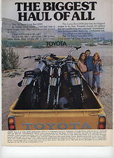 1973 Print Ad for 1974 Toyota Long Bed 2000 Hauling 250cc Yamaha Motorcycles