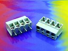 Stk.2 x KLEMMLEISTE / TERMINAL BLOCK 4 polig / way 16A Platine PCB #A607