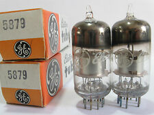 2 matched RCA/GE 5879 tubes- Silver P, 2Mica, Top O (Hickok TV-7B @ 46, 47)