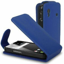 BLUE Leather flip case cover for Samsung Galaxy Ace GT-S5830G / S5830M / S5830L