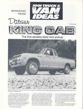 1978 Datsun Lil Hustler King Cab Pickup Brochure wo6337-FKIJVP