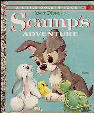 Scamp's Adventures Little Golden Book (4th print) Walt Disney