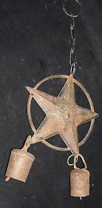 Vintage Iron Hanging Bell Rare Collectible