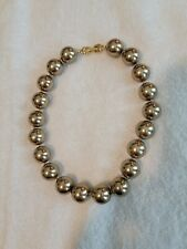 Vtg Estate Heavy Richelieu Chunky Large Chocolate Pearl Necklace Goldtone Clasp