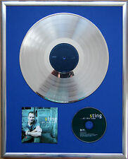 "Sting all this time infissi CD COVER +12"" VINYL d'oro/platino disco"